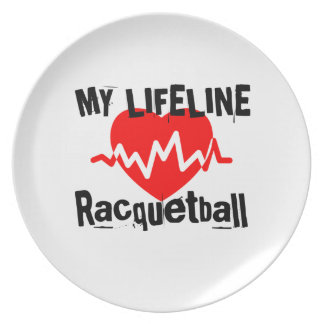 My Life Line Racquetball Sports Designs Plate