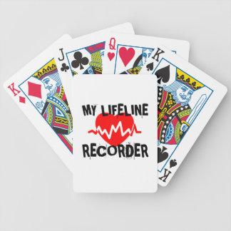 MY LIFE LINE RECORDER MUSIC DESIGNS BICYCLE PLAYING CARDS
