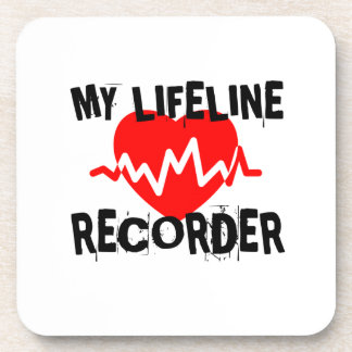 MY LIFE LINE RECORDER MUSIC DESIGNS COASTER