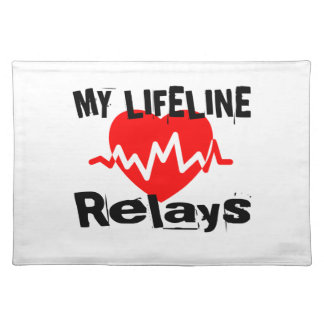 My Life Line Relays Sports Designs Placemat