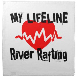 My Life Line River Rafting Sports Designs Napkin