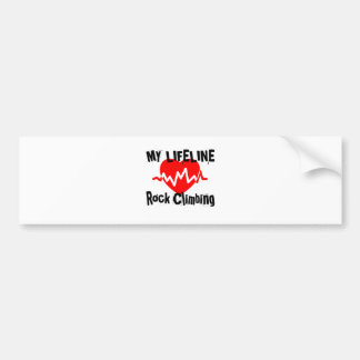 My Life Line Rock Climbing Sports Designs Bumper Sticker