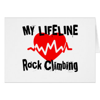 My Life Line Rock Climbing Sports Designs Card