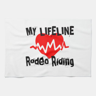 My Life Line Rodeo Riding Sports Designs Kitchen Towel