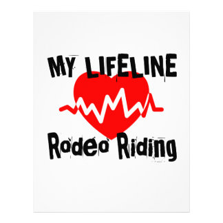 My Life Line Rodeo Riding Sports Designs Letterhead
