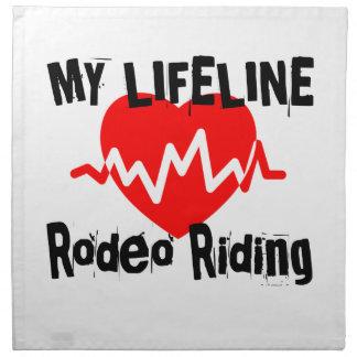 My Life Line Rodeo Riding Sports Designs Napkin
