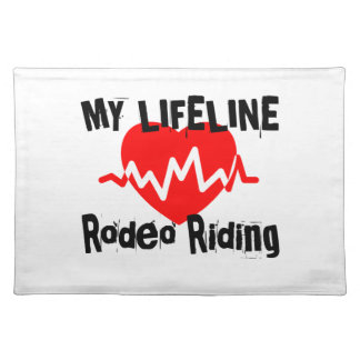 My Life Line Rodeo Riding Sports Designs Placemat
