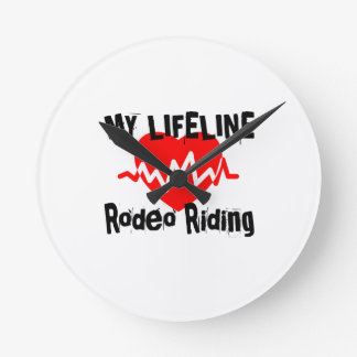 My Life Line Rodeo Riding Sports Designs Round Clock