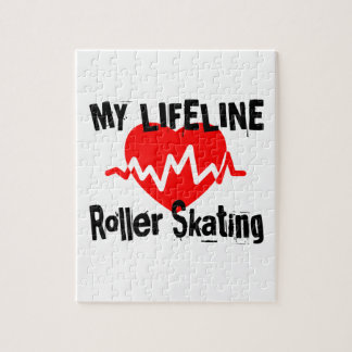 My Life Line Roller Skating Sports Designs Jigsaw Puzzle