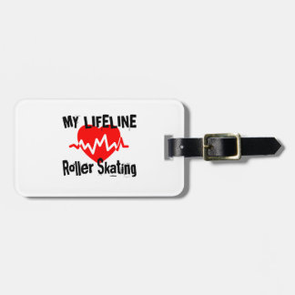 My Life Line Roller Skating Sports Designs Luggage Tag