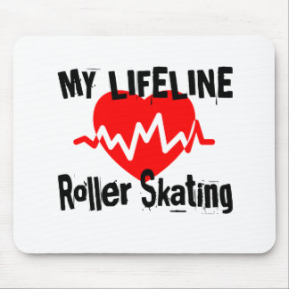 My Life Line Roller Skating Sports Designs Mouse Pad
