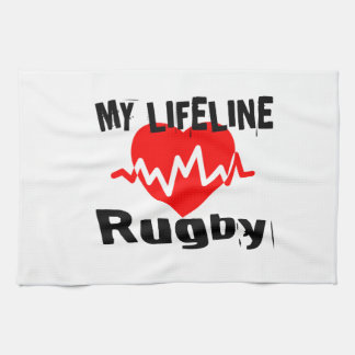 My Life Line Rugby Sports Designs Kitchen Towel