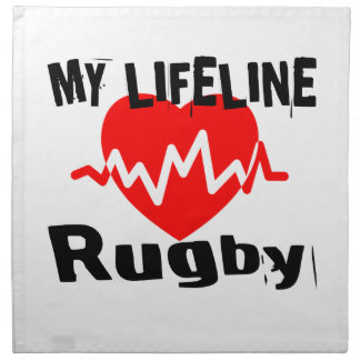 My Life Line Rugby Sports Designs Napkin