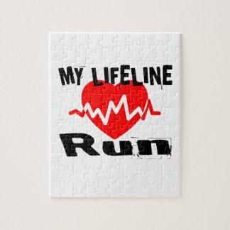 My Life Line Run Sports Designs Jigsaw Puzzle