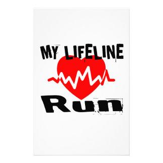 My Life Line Run Sports Designs Stationery