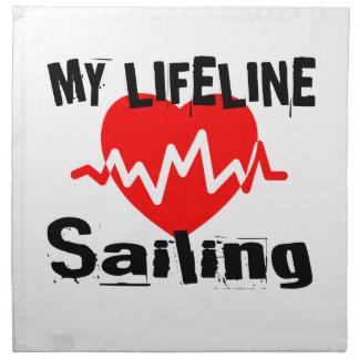 My Life Line Sailing Sports Designs Napkin