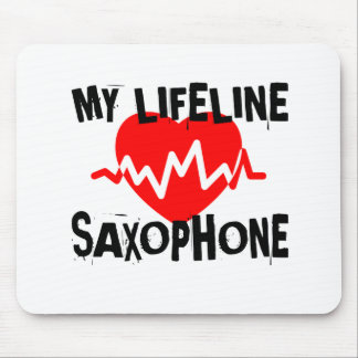 MY LIFE LINE SAXOPHONE MUSIC DESIGNS MOUSE PAD
