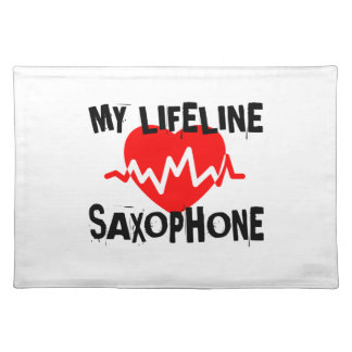MY LIFE LINE SAXOPHONE MUSIC DESIGNS PLACEMAT