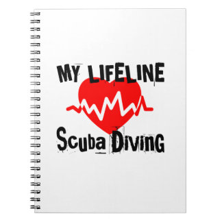 My Life Line Scuba Diving Sports Designs Notebooks