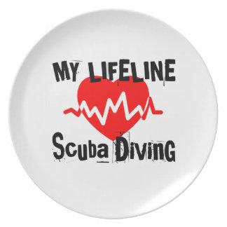 My Life Line Scuba Diving Sports Designs Plate