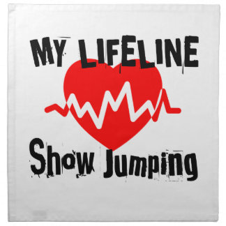 My Life Line Show Jumping Sports Designs Napkin