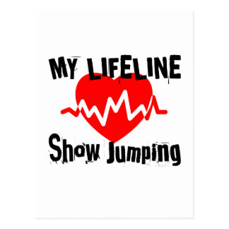 My Life Line Show Jumping Sports Designs Postcard