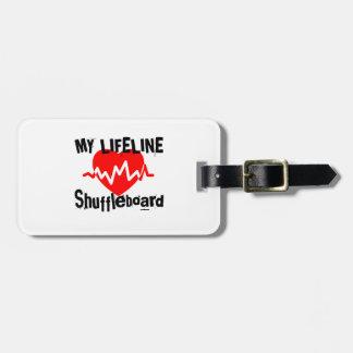 My Life Line Shuffleboard Sports Designs Luggage Tag
