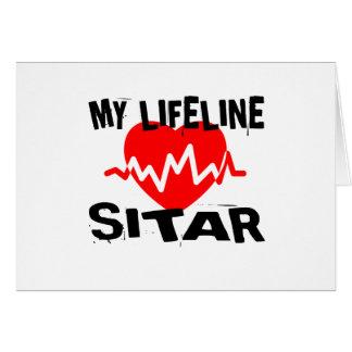 MY LIFE LINE SITAR MUSIC DESIGNS CARD
