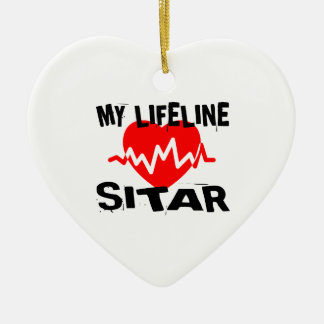 MY LIFE LINE SITAR MUSIC DESIGNS CERAMIC ORNAMENT