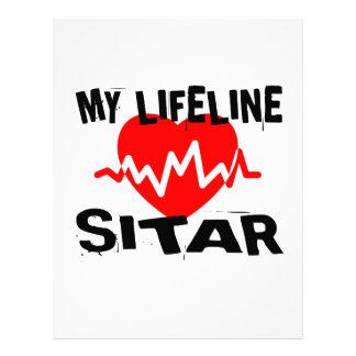 MY LIFE LINE SITAR MUSIC DESIGNS LETTERHEAD