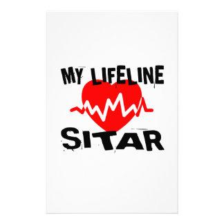 MY LIFE LINE SITAR MUSIC DESIGNS STATIONERY