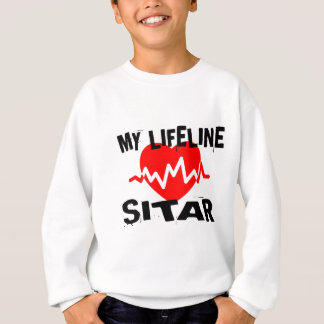 MY LIFE LINE SITAR MUSIC DESIGNS SWEATSHIRT