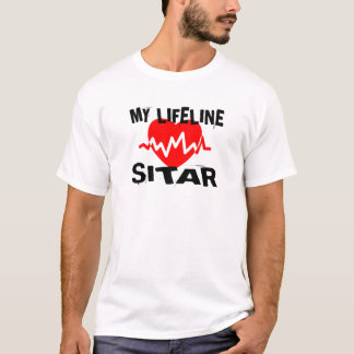 MY LIFE LINE SITAR MUSIC DESIGNS T-Shirt