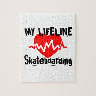 My Life Line Skateboarding Sports Designs Jigsaw Puzzle