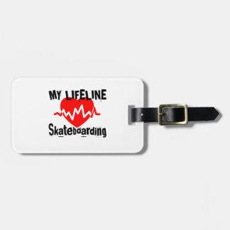 My Life Line Skateboarding Sports Designs Luggage Tag