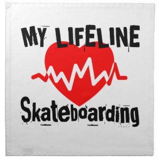 My Life Line Skateboarding Sports Designs Napkin
