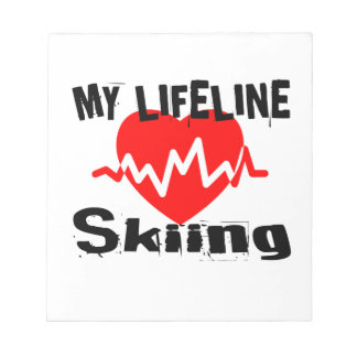 My Life Line Skiing Sports Designs Notepad