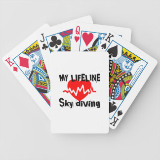 My Life Line Sky diving Sports Designs Bicycle Playing Cards