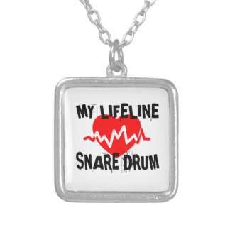 MY LIFE LINE SNARE DRUM MUSIC DESIGNS SILVER PLATED NECKLACE
