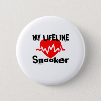 My Life Line Snooker Sports Designs 2 Inch Round Button