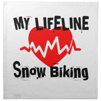 My Life Line Snow Biking Sports Designs Napkin