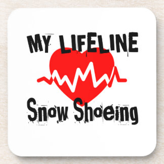 My Life Line Snow Shoeing Sports Designs Coaster