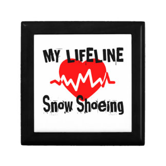 My Life Line Snow Shoeing Sports Designs Gift Box