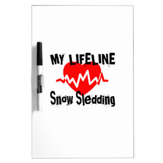 My Life Line Snow Sledding Sports Designs Dry Erase Board