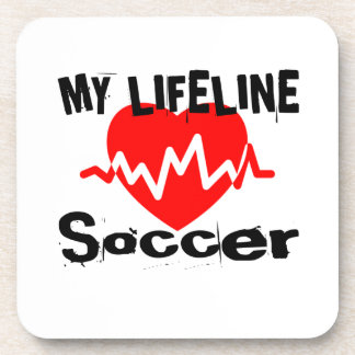 My Life Line Soccer Sports Designs Coaster