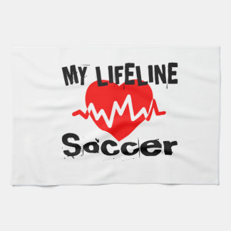 My Life Line Soccer Sports Designs Kitchen Towel