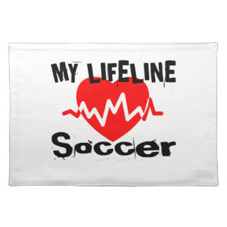 My Life Line Soccer Sports Designs Placemat