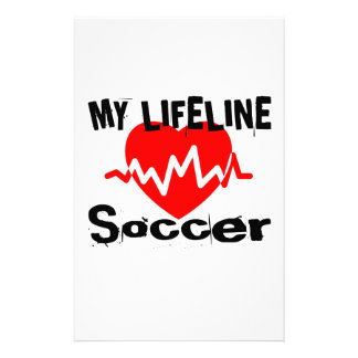 My Life Line Soccer Sports Designs Stationery