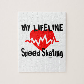 My Life Line Speed Skating Sports Designs Jigsaw Puzzle