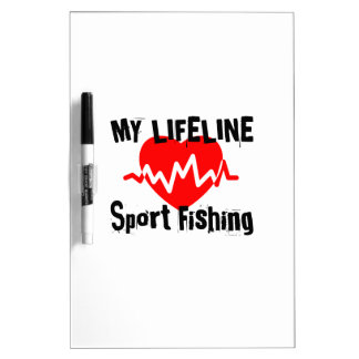 My Life Line Sport Fishing Sports Designs Dry Erase Board